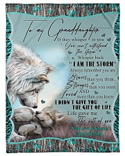 "I AM THE STORM - GRANDMA TO GRANDDAUGHTER Small Fleece Blanket - 30"" x 40"" front"