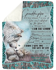 "I AM THE STORM - GRANDMA TO GRANDDAUGHTER Large Sherpa Fleece Blanket - 60"" x 80"" thumbnail"