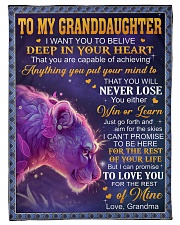 "DEEP IN YOUR HEART - GREAT GIFT FOR GRANDDAUGHTER Small Fleece Blanket - 30"" x 40"" front"