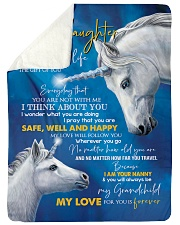 T THINK ABOUT YOU - BEST GIFT FOR GRANDDAUGHTER Sherpa Fleece Blanket tile