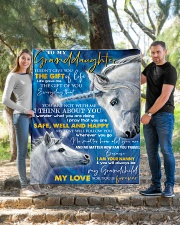 """T THINK ABOUT YOU - BEST GIFT FOR GRANDDAUGHTER Quilt 50""""x60"""" - Throw aos-quilt-50x60-lifestyle-front-04"""