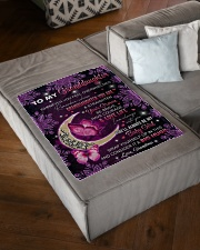 """I AM ALWAYS WITH YOU - GRANDMA TO GRANDDAUGHTER Small Fleece Blanket - 30"""" x 40"""" aos-coral-fleece-blanket-30x40-lifestyle-front-03"""