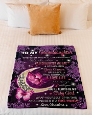 """I AM ALWAYS WITH YOU - GRANDMA TO GRANDDAUGHTER Small Fleece Blanket - 30"""" x 40"""" aos-coral-fleece-blanket-30x40-lifestyle-front-04"""