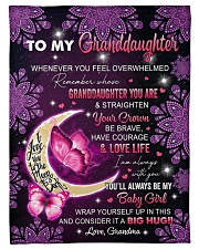 """I AM ALWAYS WITH YOU - GRANDMA TO GRANDDAUGHTER Small Fleece Blanket - 30"""" x 40"""" front"""