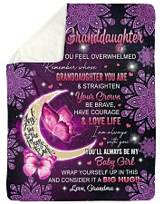 "I AM ALWAYS WITH YOU - GRANDMA TO GRANDDAUGHTER Large Sherpa Fleece Blanket - 60"" x 80"" thumbnail"