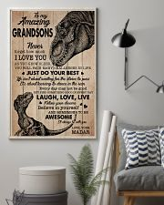 JUST DO YOUR BEST - BEST GIFT FOR GRANDSONS 11x17 Poster lifestyle-poster-1