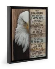 I LOVE YOU - AMAZING GIFT FOR GRANDSON FROM NANA Floating Framed Canvas Prints Black tile