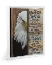 I LOVE YOU - AMAZING GIFT FOR GRANDSON FROM NANA Floating Framed Canvas Prints White tile