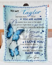 "I LOVE YOU - AMAZING GIFT FOR TAYLOR Large Sherpa Fleece Blanket - 60"" x 80"" aos-sherpa-fleece-blanket-60x80-lifestyle-front-23"