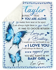 "I LOVE YOU - AMAZING GIFT FOR TAYLOR Large Sherpa Fleece Blanket - 60"" x 80"" front"