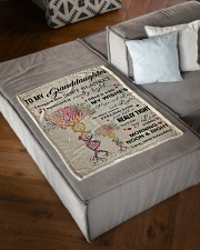 """MY WISHES - LOVELY MESSAGE GIFT FOR GRANDDAUGHTER Small Fleece Blanket - 30"""" x 40"""" aos-coral-fleece-blanket-30x40-lifestyle-front-03"""