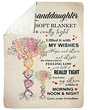 """MY WISHES - LOVELY MESSAGE GIFT FOR GRANDDAUGHTER Large Sherpa Fleece Blanket - 60"""" x 80"""" thumbnail"""