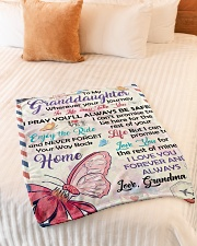"""ENJOY THE RIDE - GRANDDAUGHTER GIFT WITH BUTTERFLY Small Fleece Blanket - 30"""" x 40"""" aos-coral-fleece-blanket-30x40-lifestyle-front-01"""