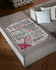 """ENJOY THE RIDE - GRANDDAUGHTER GIFT WITH BUTTERFLY Small Fleece Blanket - 30"""" x 40"""" aos-coral-fleece-blanket-30x40-lifestyle-front-03"""