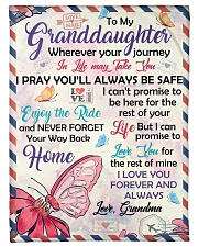 """ENJOY THE RIDE - GRANDDAUGHTER GIFT WITH BUTTERFLY Small Fleece Blanket - 30"""" x 40"""" front"""