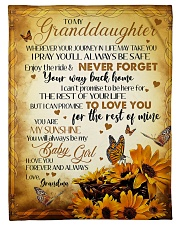 "MY BABY GIRL - GRANDMA TO GRANDDAUGHTER Small Fleece Blanket - 30"" x 40"" front"