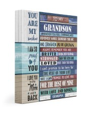STRAIGHTEN YOUR CROWN - BEST GIFT FOR GRANDSON 11x14 Gallery Wrapped Canvas Prints front