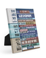 STRAIGHTEN YOUR CROWN - BEST GIFT FOR GRANDSON 8x10 Easel-Back Gallery Wrapped Canvas thumbnail