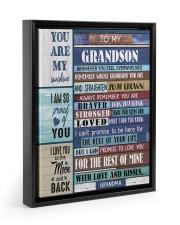 STRAIGHTEN YOUR CROWN - BEST GIFT FOR GRANDSON 11x14 Black Floating Framed Canvas Prints thumbnail