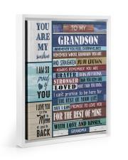 STRAIGHTEN YOUR CROWN - BEST GIFT FOR GRANDSON 11x14 White Floating Framed Canvas Prints thumbnail