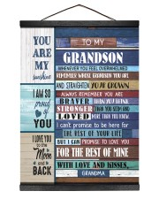 STRAIGHTEN YOUR CROWN - BEST GIFT FOR GRANDSON 12x16 Black Hanging Canvas thumbnail