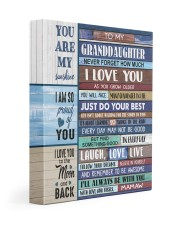 JUST DO YOUR BEST - MAMAW TO GRANDDAUGHTER 11x14 Gallery Wrapped Canvas Prints front