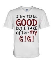 TAKE AFTER MY GIGI - SPECIAL GIFT FOR GRANDKIDS V-Neck T-Shirt tile