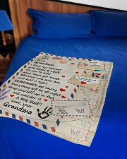 """HUGS AND LOVE - LOVELY GIFT FOR GRANDSON Small Fleece Blanket - 30"""" x 40"""" aos-coral-fleece-blanket-30x40-lifestyle-front-02"""