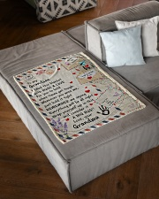 """HUGS AND LOVE - LOVELY GIFT FOR GRANDSON Small Fleece Blanket - 30"""" x 40"""" aos-coral-fleece-blanket-30x40-lifestyle-front-03"""
