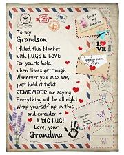 """HUGS AND LOVE - LOVELY GIFT FOR GRANDSON Small Fleece Blanket - 30"""" x 40"""" front"""