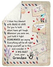 """HUGS AND LOVE - LOVELY GIFT FOR GRANDSON Large Sherpa Fleece Blanket - 60"""" x 80"""" thumbnail"""