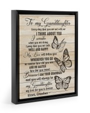 I THINK ABOUT YOU - PERFECT GIFT FOR GRANDDAUGHTER Floating Framed Canvas Prints Black tile