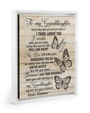 I THINK ABOUT YOU - PERFECT GIFT FOR GRANDDAUGHTER Floating Framed Canvas Prints White tile