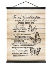 I THINK ABOUT YOU - PERFECT GIFT FOR GRANDDAUGHTER Hanging Canvas tile