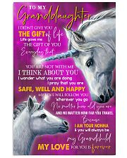 I THINK ABOUT YOU - LOVELY GIFT FOR GRANDDAUGHTER 11x17 Poster front