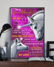 I THINK ABOUT YOU - LOVELY GIFT FOR GRANDDAUGHTER 11x17 Poster lifestyle-poster-2