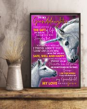 I THINK ABOUT YOU - LOVELY GIFT FOR GRANDDAUGHTER 11x17 Poster lifestyle-poster-3