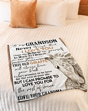 """I LOVE YOU  - GREAT GIFT FOR GRANDSON Small Fleece Blanket - 30"""" x 40"""" aos-coral-fleece-blanket-30x40-lifestyle-front-01"""