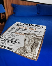 """I LOVE YOU  - GREAT GIFT FOR GRANDSON Small Fleece Blanket - 30"""" x 40"""" aos-coral-fleece-blanket-30x40-lifestyle-front-02"""