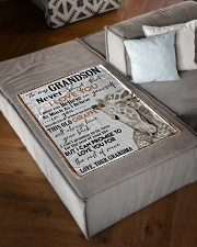 """I LOVE YOU  - GREAT GIFT FOR GRANDSON Small Fleece Blanket - 30"""" x 40"""" aos-coral-fleece-blanket-30x40-lifestyle-front-03"""