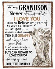 """I LOVE YOU  - GREAT GIFT FOR GRANDSON Small Fleece Blanket - 30"""" x 40"""" front"""