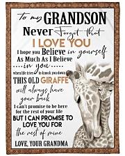 I LOVE YOU  - GREAT GIFT FOR GRANDSON Fleece Blanket tile