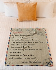"""IT A BIG HUG - BEST GIFT FOR GRANDDAUGHTER Small Fleece Blanket - 30"""" x 40"""" aos-coral-fleece-blanket-30x40-lifestyle-front-04"""