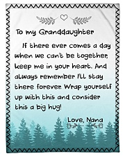 "KEEP ME IN YOUR HEART - NANA TO GRANDDAUGHTER  Small Fleece Blanket - 30"" x 40"" front"