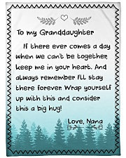 KEEP ME IN YOUR HEART - NANA TO GRANDDAUGHTER  Fleece Blanket tile
