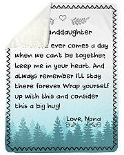 "KEEP ME IN YOUR HEART - NANA TO GRANDDAUGHTER  Large Sherpa Fleece Blanket - 60"" x 80"" thumbnail"