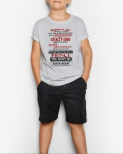 ISM A SPOILED GRANDSON OF A CRAZY GIGI Youth T-Shirt lifestyle-youth-tshirt-front-1