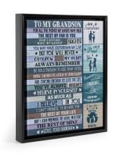 I BELIEVE IN YOU - TO GRANDSON FROM GRANDMA Floating Framed Canvas Prints Black tile