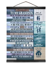 I BELIEVE IN YOU - TO GRANDSON FROM GRANDMA 12x16 Black Hanging Canvas thumbnail