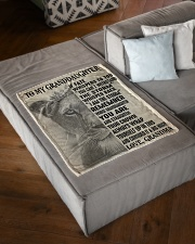 """WITHSTAND THE STORM - GRANDMA TO GRANDDAUGHTER Small Fleece Blanket - 30"""" x 40"""" aos-coral-fleece-blanket-30x40-lifestyle-front-03"""